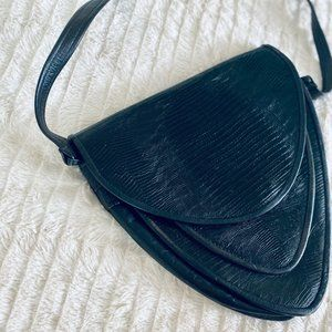 Vintage Leather triangle bag